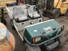 CLUBCAR TURF 2 CARRYALL UTILITY TRUCK FOR SPARES, UNTESTED