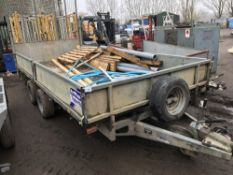 IFOR WILLIAMS LM146G TWIN AXLED DROP SIDE TRAILER SN:SCK600000A5074607 FULL WIDTH RAMP INCLUDES