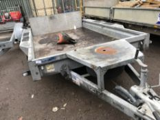 Ifor Williams wide bodied plant trailer, yr2016 approx. SN;SCKD00000G0685132