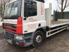 DAF 65.220 flat bed scaffold lorry c/w sleeper cab, reg. KE53 RLO WHEN TESTED WAS SEEN TO RUN,