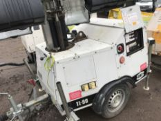 SMC TL90 Towed lighting tower YR2007 SN:T90076707 WHEN TESTED WAS SEEN TO RUN AND MAKE LIGHT