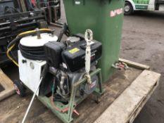 HONDA ENGINED BRENDON DIESEL POWER WASHER C/W HOSE, LANCE AND RESERVOIR TANK. WHEN TESTED WAS SEEN