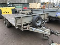 Ifor Williams flat bed plant trailer TYPE LM146G 14FT X 6FT