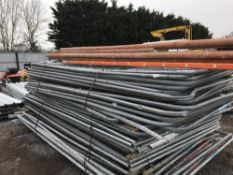 55NO APPROX HERAS TYPE SITE FENCE PANELS PLUS 5NO LADDERS