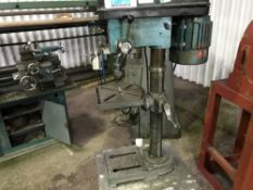 CLARKE METAL WORKER PILLAR DRILL, RECENTLY REMOVED FROM WORKING ENVIRONMENT
