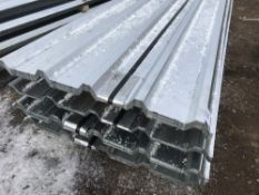 100no sheets of 8ft box profile galvanised roofing sheets,