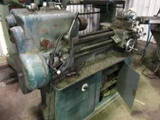 SMALL SIZED HARRISON LATHE C/W SOME TOOLING AS SHOWN, SOURCED FROM COMPANY LIQUIDATION