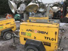 ARCGEN TOWED LIGHTING TOWER WITH KUBOTA ENGINE PN:TFL01