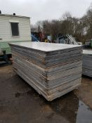 BUNDLE OF 50NO APPROX PRE USED TIMBER BOARDS