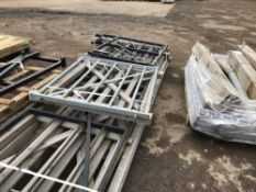 8NO ASSORTED ESTATE RAILING GATES, WOODEN AND GALVANISED FIELD GATES PLUS SOME ASSORTED POSTS