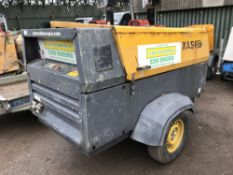 ATLAS COPCO XAS137 COMPRESSOR COMPRESSOR YEAR 2008 PN;5800FC WHEN TESTED WAS SEEN TO RUN AND MAKE
