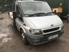 FORD TRANSIT 135T350 DROP SIDE PICKUP TRUCK REG:EX56 CXY . WHEN TESTED WAS SEEN TO DRIVE, STEER
