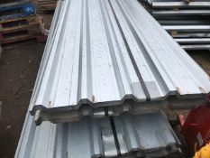 50NO 10FT BOX PROFILE GALVANISED ROOF SHEETS, SUPPLIED IN 2 BUNDLES OF 25NO.