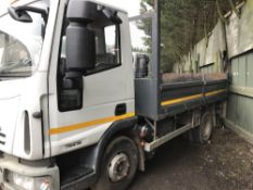 IVECO CARGO TIPPER IVECO EURO CARGO 7500KG RATED TIPPER, WHITE WITH GREY BODY. REG:LK08 LFF