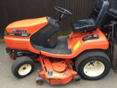 kubota g18 ride on tractor mower with gc48pro hydraulic lifting deck