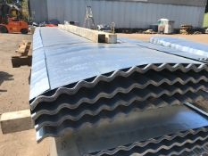 100NO 12FT GALVANISED CORRUGATED ROOF SHEETS 90CM (3FT APPROX) WIDTH