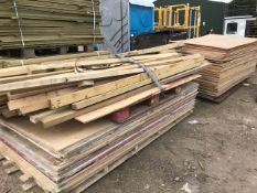 APPROX 90 X ASSORTED BOARDS PLUS TIMBER