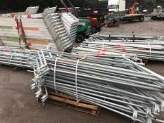 LARGE QUANTITY OF ALTRAD PLETTAC ASSCO STAIRWAY SCAFFOLDING SYSTEM PARTS