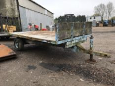 SINGLE AXLED AGRICULTURAL TRAILER....NO VAT ON HAMMER PRICE