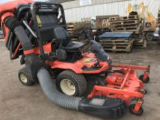KUBOTA F3060 OUTFRONT MOWER C/W HIGH TIP COLLECTOR YEAR 2003 1613 REC HRS SN;62457 ... SEE VIDEO