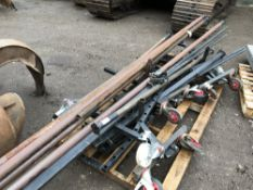 PALLET CONTAINING 3 X WHEELED ARTIFICIAL TURF STANDS
