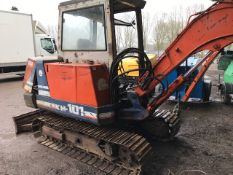 Kubota KH101 steel tracked excavator c/w grading bucket KH101-10619 when tested was seen to drive