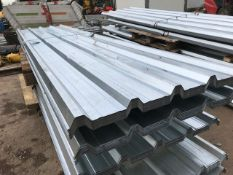 50 X 12FT GALVANISED BOX PROFILE ROOF SHEETS,