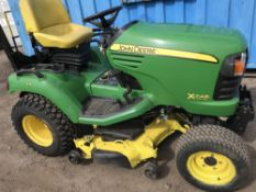 JOHN DEERE X748 ULTIMATE 4WD RIDE ON MOWER YEAR 2009 622 RECORDED HRS HYDRAULIC LIFTING CUTTER