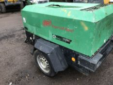 Ingersoll Rand 726 compressor, yr2006 PN:2090FC SN:SCZ726EFX6Y107234 when tested was seen to run and