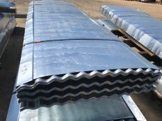 100NO 10FT GALVANISED CORRUGATED ROOF SHEETS 90CM (3FT APPROX) WIDTH