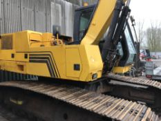CASE 1188 TRACKED EXCAVATOR WITH ORANGE PEEL SCRAP GRAB SNCGG0129667 when tested was seen to drive