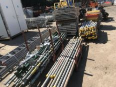 large qty of assorted scaffolding items
