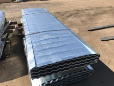 100NO 8FT GALVANISED CORRUGATED ROOF SHEETS 90CM (3FT APPROX) WIDTH