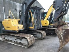 VOLVO EC140 14 TONNE EXCAVATOR SN:12831 1NO BUCKET when tested was seen to drive and dig