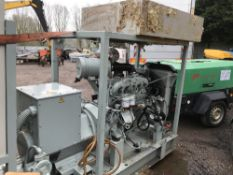IVECO ENGINED STANDBY GENERATOR 342 REC HRS SN:C083329/03 EX COMPANY LIQUIDATION. RECENTLY REMOVED