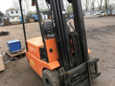 STILL BATTERY POWERED FORKLIFT WITH CONTAINER SPEC MAST C/W CHARGER