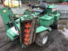 RANSOMES HIGHWAY 213 TRIPLE MOWER, KUBOTA ENGINED when tested was seen to drive and mowers turned