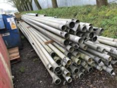 """APPROX 98NO ALUMINIUM 4"""" IRRIGATION PIPES, MOST APPROX 30FT LENGTH NO VAT ON HAMMER PRICE DIRECT"""