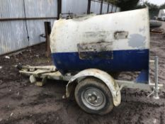Single axled towed steel tanked water bowser
