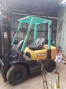 Cat dp25k 2.5 ton diesel forklift truck 3.3mtr