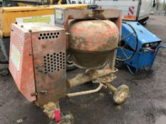 BELLE YANMAR DIESEL ENGINED SITE MIXER, YEAR 2012. WHEN TESTED WAS SEEN TO RUN AND MIX
