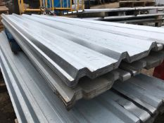 50NO 10FT BOX PROFILE ROOF SHEETS CIRCA 80CM WIDTH. SUPPLIED IN 2 X PACKS OF 25N0