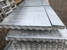 Pack of 50no. 10ft length corrugated galvanised roof sheets