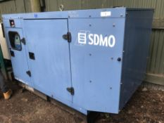 SDMO SILENCED 80KVA SKID GENERATOR YEAR 2004 3419 rec hrs SN: JS80K04002309 When tested was seen