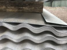 Pack of 25no. 12ft length corrugated galvanised roof sheets