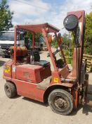 Mitsubishi fg25 2.5 tonne gas forklift truck 3.5mtr lift with side shift