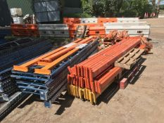 large quantity of assorted pallet racking