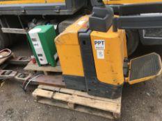 Battery powered pallet truck