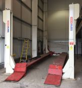 stertil koni ST175 4 post commercial vehicle lorry lift, 17.5tonne rated.