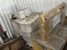 BANDING MACHINE C/W PALLET OF BANDING MATERIALS….sold under the Auctioneer's Margin Scheme,
